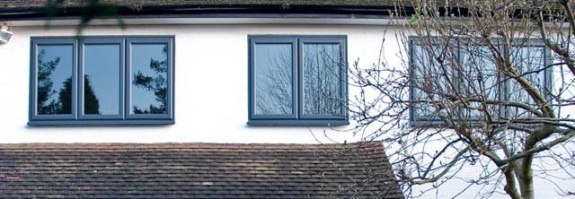 PVCu grey windows